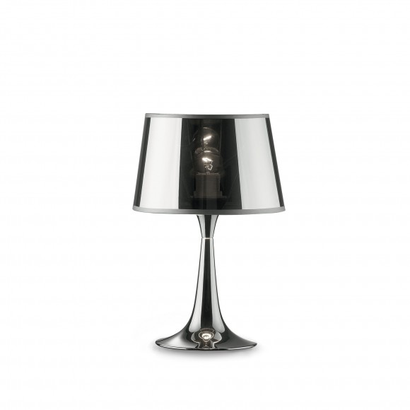 Ideal Lux 032368 stolná lampička London Small 1x60W | E27 - chróm