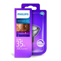 Philips LED 6,3W / 35W GU5,3 WW 12V 36D D bodová