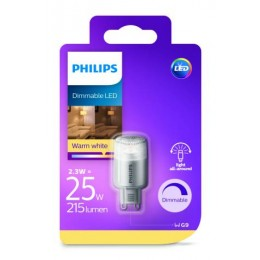 Philips LED 2,5W / 25W G9 WW 230V Dim kapsule