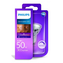 Philips LED 5,5W / 50W GU10 WH 36D D bodová