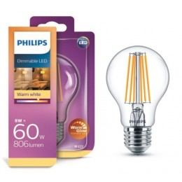 Philips LED Classic 8W / 60W E27 WW CL A60 WGD