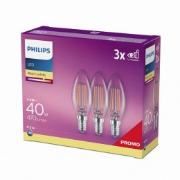 Philips 8718699612337 3x LED žiarovka Classic 1x4,3W | E14 | 2700K - triple pack