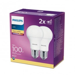 Philips 8718699669430 2x LED žiarovka 1x13W | E27 | 2700K - double pack