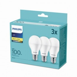 Philips 8718699694920 3x LED žiarovka 1x14W | E27 | 2700K - triple pack