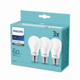 Philips 8718699694944 3x LED žiarovka 1X9W | E27 | 4000K - triple pack