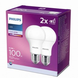 Philips 8718699726959 2x LED žiarovka 1x12,5W | E27 | 4000K - double pack