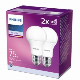 Philips 8718699726997 2x LED žiarovka 1x11W | E27 | 4000K - double pack