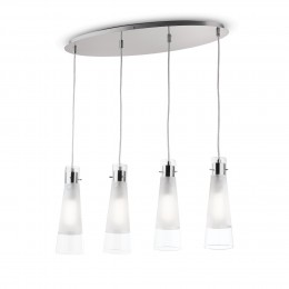 Ideal Lux 023038 luster Kuky Clear 4x40W | E27