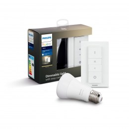 Philips Hue 8718696785331 Starter kit LED žiarovka + ovládač Dimmer Switch 1X9W | E27 - Bluetooth, White