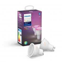 Philips Hue 8718699629250 sada 2x LED žiarovky 1x5,7W | GU10 - Bluetooth, White and Color Ambiance