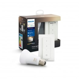 Philips Hue 8718699673208 Starter kit LED žiarovka + ovládač Dimmer Switch 1x8,5W | E27 | 2200-6500K - White Ambiance