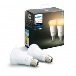 Philips Hue 8718699673369 sada 2x LED žiarovka 1x8,5W | E27 | 2200-6500K - Bluetooth, White Ambiance
