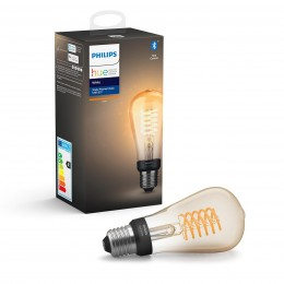 Philips Hue 8718699688868 LED žiarovka Filament 1x7W | E27 | 2100K - Bluetooth, White