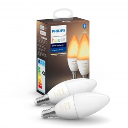 Philips Hue 8719514266902 2x LED žiarovka 1x5,2W | E14 | 470 lm | 2200 - 6500K - Bluetooth, White Ambiance