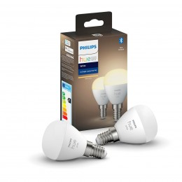 Philips Hue 8719514266902 2x LED žiarovka 1x5,5W | E14 | 470lm | 2700K - Bluetooth, White