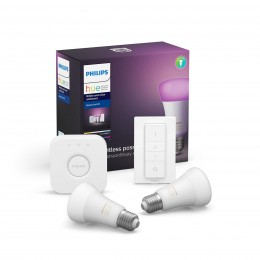 Philips Hue štartovacia sada Starter Kit 2x9WE27 + Switch + Bridge - Bluetooth