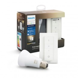 Philips Hue WhiteAmbiance žiarovka 9.5W A19 E27 + SWITCH