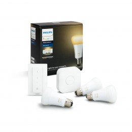 PHILIPS HUE WhiteAmbiance žiarovky 3-set E27 9.5W A60 + bridge + switch