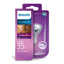 Philips LED 4,4W / 35W GU10 WW 36D D bodová