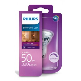 Philips LED 5,5W / 50W GU10 CW 36D D bodová