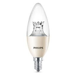 Philips LED 8W / 60W E14 WW B40 CL WGD mini sviečka lotus
