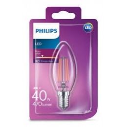 Philips LED Classic 4W / 40W E14 WW B35 CL ND mini sviečka