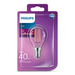 Philips LED Classic 4W / 40W E14 WW P45 CL ND mini kvapka