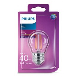 Philips LED Classic 4W / 40W E27 WW P45 CL ND